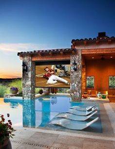 Great pool home with outdoor t.v.!
