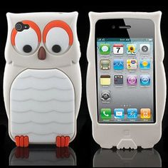New 3D Owl Animals Design Silicone Case for iPhone 4g 4s Wholesale / Retail(China (Mainland))