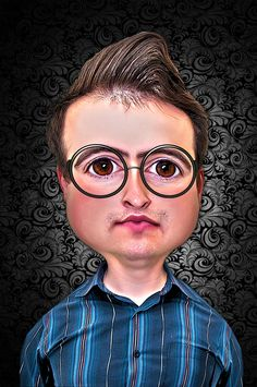 caricature by Radu Muresanu on Caricature, Round Glass, Glasses, Eyewear, Eyeglasses, Caricatures, Eye Glasses, Caricature Drawing