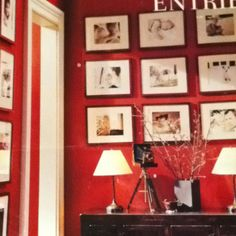 Red wall and pictures