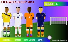 Group C - Colombia, Greece, Ivory Coast and Japan #fifaworldcup2014