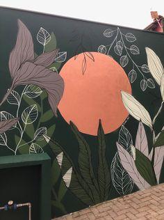Wall Painting Decor, Mural Wall Art, Creative Wall Painting, Murals Street Art, Street Wall Art, Wall Drawing, Artwork, Cement Tiles, Mosaic Tiles