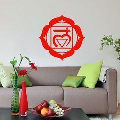 Vinyl Decal Root Chakra Religion Faith Indian by SuperVinylDecal, $24.99