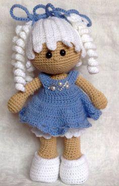 Free Amigurumi Crochet Doll Pattern and Design ideas - Page 8 of 37 - Martha Rodríguez Portocarrero - DiyForYou Knitted Dolls, Crochet Dolls, Crochet Baby, Free Crochet, Crochet Doll Pattern, Crochet Patterns Amigurumi, Amigurumi Doll, Stuffed Toys Patterns, Crochet Animals