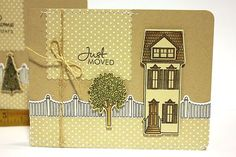 Just Moved Card by Heather Nichols for Papertrey Ink (October 2012)