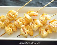 If you enjoy shrimp scampi, then this is the grilled shrimp recipe for you. You can serve this dish as part of a main course or serve them as appetizers.