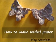Give old paper new life, literally! Seeded paper grows plants for a climate-saving craft