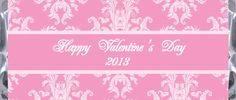 Floral Damask Valentine's Day Candy Wrapper