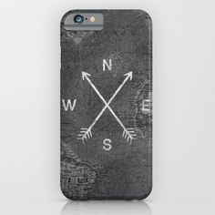 Compass (Map) iPhone & iPod Case by Zach Terrell | Society6