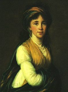 Princess Belozersky, by Vigee Le Brun. Oil on canvas. 1798