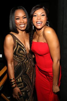 angela bassett naacp photos | Angela Bassett (L) and actress Taraji P. Henson attend the 46th NAACP ...