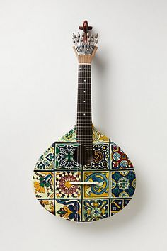 Tiled Fado Guitar- paint something  #anthropologie#PinToWin