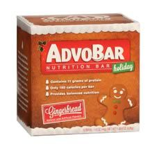 Another new holiday item! Scrumptious gingerbread AdvoBars are a healthy snack - get yours today before they are gone!