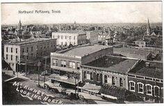 Old photo of McKinney, Texas