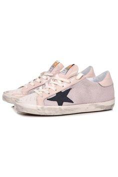 2f2eacd894527e Golden Goose Superstar Sneakers in Pink Net Navy Star