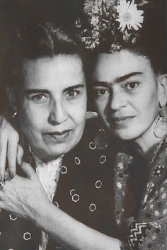 Frida Kahlo with Lupe Marin, Diego Rivera's 4th ex-wife.