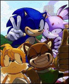 """Sonic the Hedgehog fan art Blaze and tails are all like,""""too close for comfort!!!"""""""