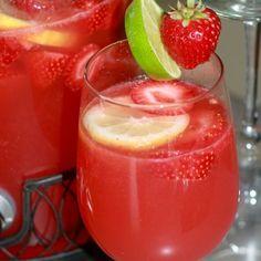 Strawberry Limeade Rum Punch Recipe from gourmandize.com