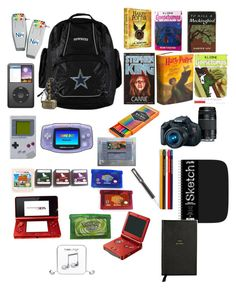 """""""Rider's bag of stuff he's collected over the years (oc)"""" by tristajeager on Polyvore featuring FOSSIL, Smythson, Parker, Eos, Nintendo and Happy Plugs"""