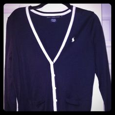 Ralph Lauren Cardigan Ralph Lauren Cardigan. Navy and White. Size: Medium. Polo by Ralph Lauren Sweaters Cardigans