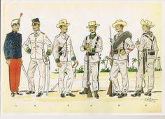 RECORTES GRAFICOS .-Soldados Españoles en Cuba 1898 Cuba, Spanish Heritage, Spanish Culture, Rough Riders, American War, How To Speak Spanish, Victorian Era, Archaeology, Philippines
