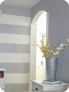 How to Paint Horizontal Stripes on Your Wall. Want 2 do this in my kids bathroom...