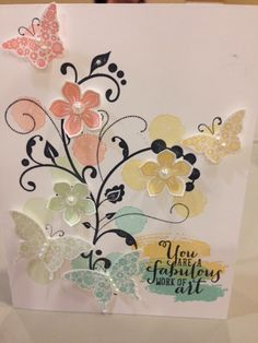 Stampin' Up!, Flowering Flourishes, Work of Art, Petite Petals, Papillon Potpourri
