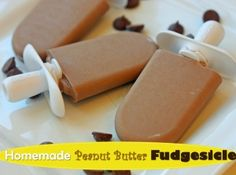 Homemade Peanut Butter Fudgesicle.  Dairy-free, indulgent, and super delicious.