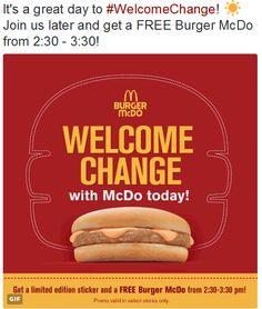 SwitiRohSays: Free BURGER MCDO Alert!!!