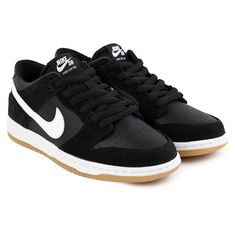 f68eb2a83114 Zoom Dunk Low Pro Shoes in Black   White-Gum Light Brown by Nike SB