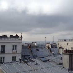xvxr: usne: xvxr: Paris over rooftops I took a picture at this exact place I think it's near the Sacré Cœur? :)