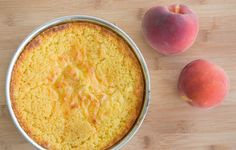 Peaches and Cream Cottage Cheese Breakfast Cake - Chef Dennis Cottage Cheese Breakfast, Breakfast Cake, Peaches, Sweet Treats, Healthy Recipes, Cream, Fruit, Desserts, Food