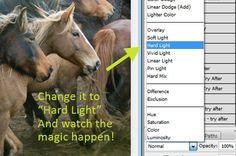 Great step by step tutorial .. Using Hard Light blending mode