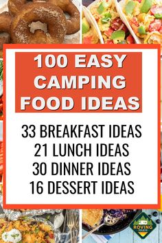 Easy Camping Breakfast, Camping Food Make Ahead, Camping Lunches, Best Camping Meals, Camping Menu, Make Ahead Meals, Breakfast Ideas, Camping Recipes, Camping Food Lists