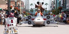 Star Wars land in Disneyland eluded to... Likely taking over TomorrowLand ... So fun!!