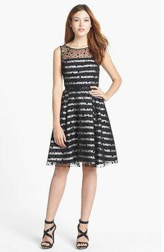 REVEL: Illusion Dot Striped Dress