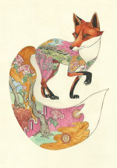"""These beautiful watercolour illustrations are by award winning watercolour artist and illustrator Daniel Mackie, who won """"Best in Book"""" in the Creative Rev"""