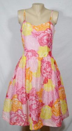 LILLY-PULITZER-Winners-Circle-Pink-Multi-Floral-Spaghetti-Strap-Dress-8-Lined