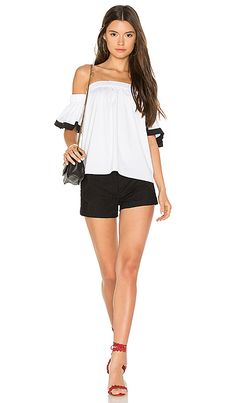 Shop for MILLY Bare Shoulder Top in White & Black at REVOLVE. Free 2-3 day shipping and returns, 30 day price match guarantee.