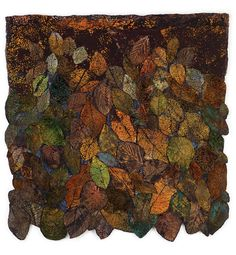 These textile artists inspired by nature find a way of bringing a fresh voice to well-trodden ground and show why the natural world has endured in art. Textile Fiber Art, Textile Artists, Leaf Art, Fabric Manipulation, Wedding Art, Natural Forms, Animal Tattoos, Fabric Art, Fabric Crafts
