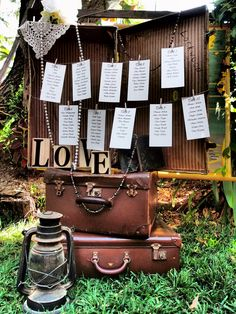 I Love this idea for your seating plans Events - Remember When Vintage Prop Hire