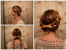 Ren Faire (Milk Maid) Braids Inspired by the film, Black Death.   http://youtu.be/UL3-IKBw7PA