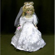 Porcelánová bábika v svadobných šatách Disney Princess, Disney Characters, Disney Princes