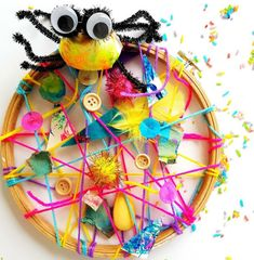 Incy Wincy Spider - Embroidery hoop craft