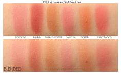 BECCA Luminous Blushes Swatches Becca Shimmering, Blushes, Makeup Organization, Dupes, Swatch, Beauty Hacks, Amazing Eyes, Green Eyes, Make Up Eyes