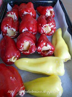 Paprike punjene sirom * stuffed peppers with cheese