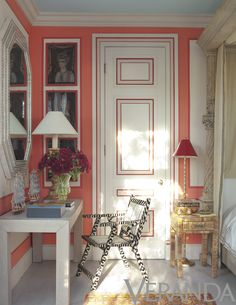 Interior design by Thomas Britt.   Photograph by Max Kim-Bee.