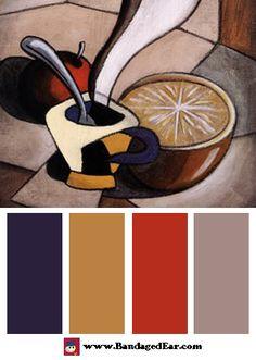 Restaurant Color Palette: 10 A.M., Art Print by Robert Hoglund