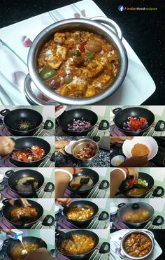 I have prepared it an authentic Punjabi Dhaba style. It tastes nice that you can be a fan. Kadai Paneer In Authentic Punjabi Dhaba Style recipe step by step Vegetarian Breakfast Recipes, Vegetarian Cooking, Cooking Recipes, Vegetarian Diets, Cooking Games, North Indian Recipes, Indian Food Recipes, Indian Foods, Punjabi Recipes