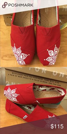 00d98d56708 Mandala TOMS Shoes Hand painted mandala TOMS shoes in a color of your  choice! Link